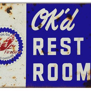 Metal Bathroom Signs Vintage
