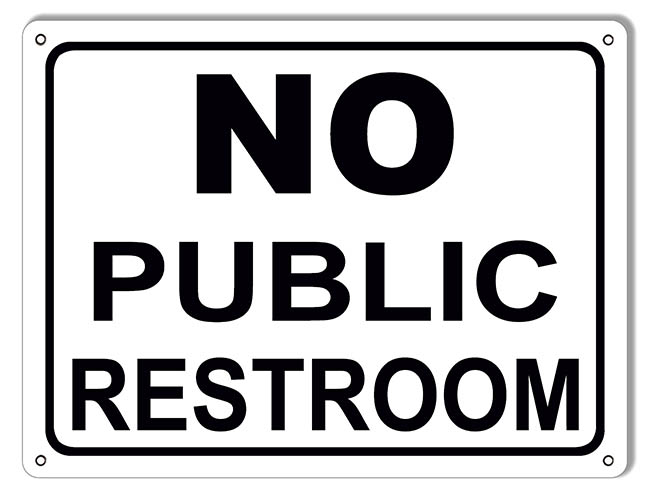 photo relating to No Public Restroom Sign Printable titled No General public Restroom Signal