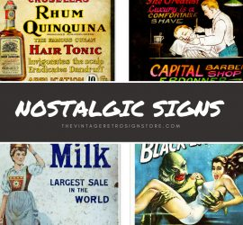 Vintage Signs – Metal Signs, Wood Signs, and Porcelain Signs